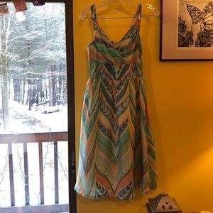 Anthropologie lil Silk Feathered Dress Size 2